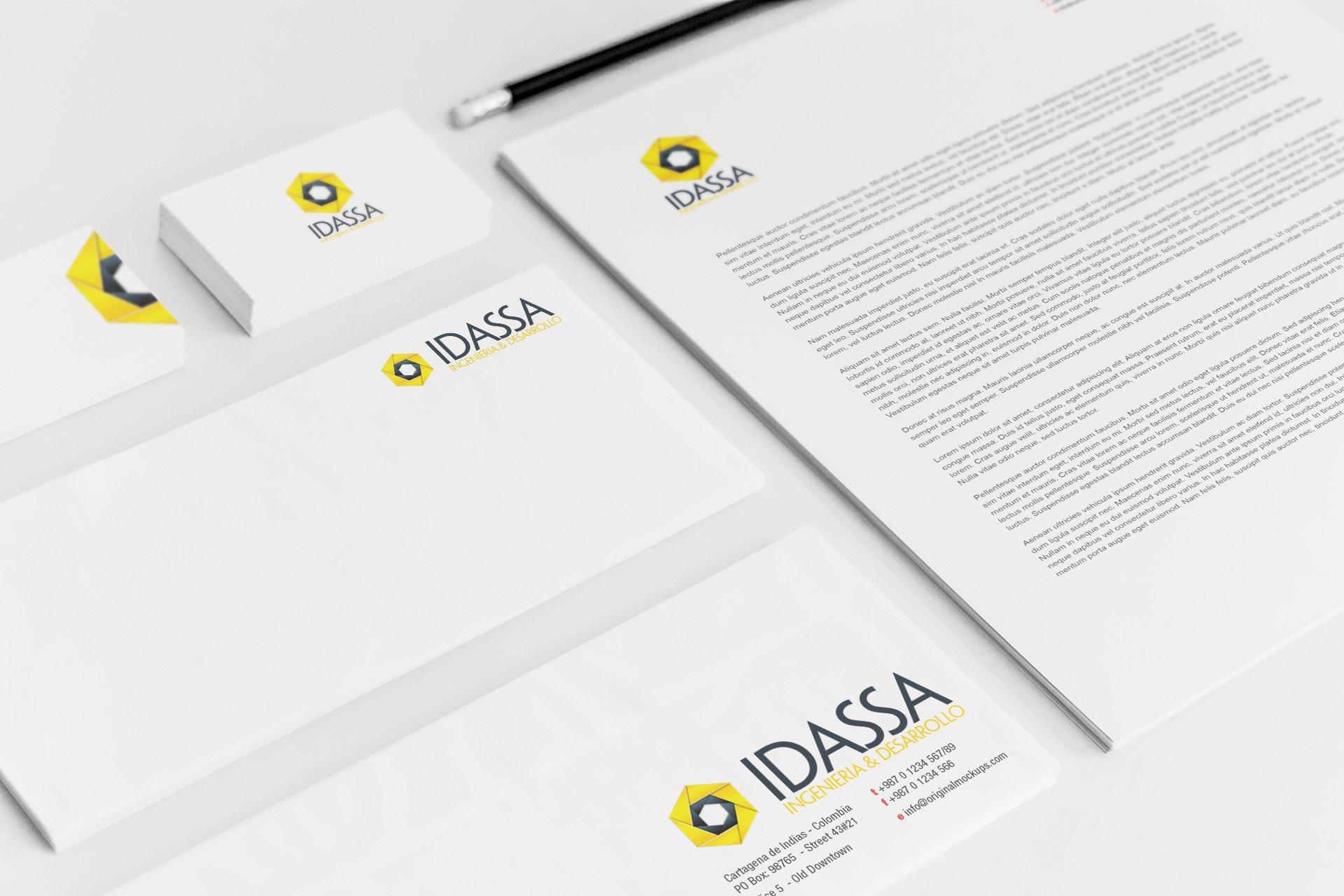 Papeleria y logotipos Idassa