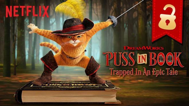 audiovisual gato con botas netflix